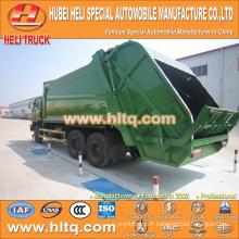DONGFENG 6x4 16/20 m3 camion de compression à déchets lourds moteur diesel 210hp avec mécanisme de pressage