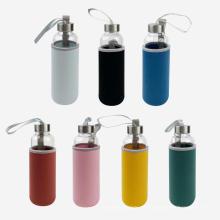 500 мл одностенная стеклянная бутылка для питья с крышкой