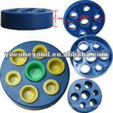 Blue Double Circle Tattoo Ink Cap/Cup Rack Holder 14 Holes