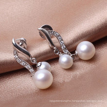 Double Pearls Silver Earrings