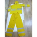 Yellow Rain Suits with Reflective Tape (DFRS16002)