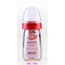 60ml Neutral Boroslicate Glass Baby Feeding Bottle