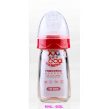 60ml Neutral Boroslicate Glass Baby Feeding Bottle