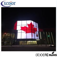 P3.91 Video Wall Outdoor Transparent Glass Screen Display