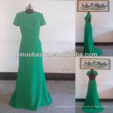 NW-468 Elegant Short Sleeves Chiffon Evening Dress