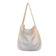 Solid Color Canvas Shopping School Shoulder Bags