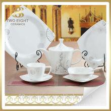Utensílios de mesa de cerâmica, prato de prato de porcelana restaurante, hotel restaurante porcelana