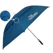 Navy blue air vented golf umbrellas, long shaft 2layer bunnings golf umbrella