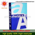 China Konkurrenzfähiger preiswerter Preis A4 Kopierpapier 135g