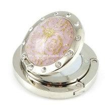 Crochet rond en diamant pour cadeaux de mariage avec miroir