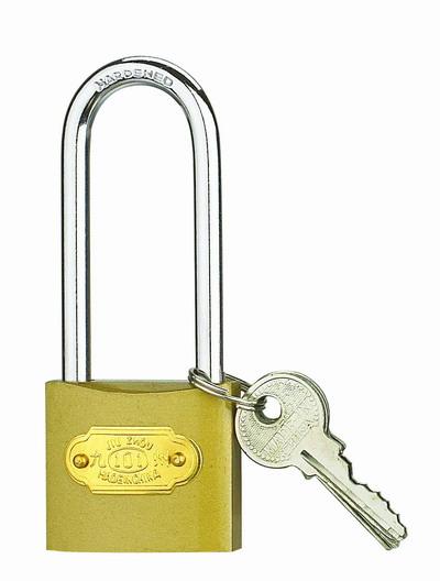 iron padlock with long shackle