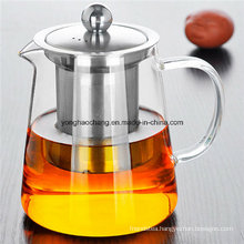 Stainless Steel Heat Resistant Glass Teapot