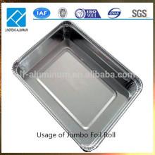 Hoja de aluminio a granel para el contenedor desechable