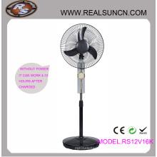 Ventilador 16inch recargable de la CC de la CA con la lámpara del LED (RS12V16K)