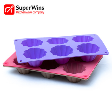 6-Cup Nonstick Silikon Backform Muffin Pan Cupcakes