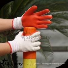 SRSAFETY billig Preis / Latex laminiert Bau Arbeit Schutzhandschuh / Hand Handschuhe