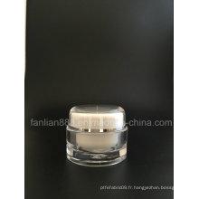Bouteilles en crème acrylique ronde pour emballage cosmétique