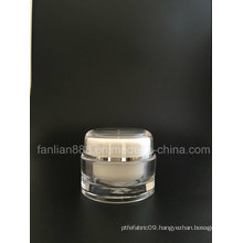 Round Acrylic Cream Bottles for Cosmetic Packaging