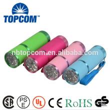 Fluorescent Rubber Small LED Flashlight