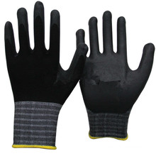 NMSAFETY Micro foam nitrile coated gloves with soft hand feeling