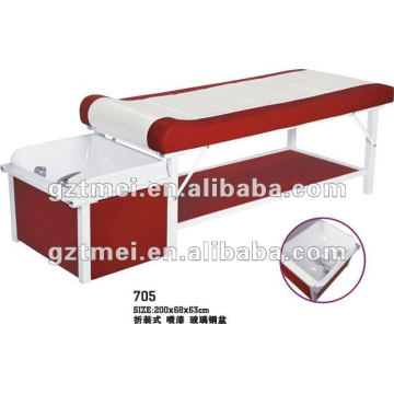 200cm length hair washing salon bed