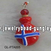Norway flag shape lampwork perfume bottle