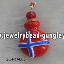 Bandeira da Noruega moldar o frasco de perfume de lampwork