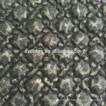 hoja tela quilting de encaje, bordado térmica acolchada tela para la ropa de la hoja