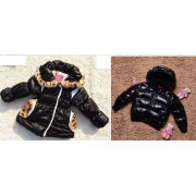 Winter Boutique Childrens Clothing - Black Long Girls Warm Coat With Hood