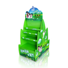 Double Sides PDQ Cardboard Display Stands, Paper Floor Display