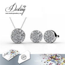 Destiny Jewelry Crystal From Swarovski Set Round Pendant AMD Earrings Crystal Set