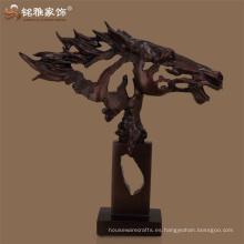Escultura abstracta de la cabeza de caballo del polyresin del ornamento del caballo de tabla