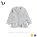 Baby cotton jacket long sleeve plain short coat for kids