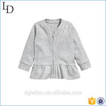 Casaco de algodão do bebê manga comprida lisa casaco curto para crianças