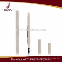 AS10-3, plástico duplo cabeças triângulo caneta de sobrancelha automática com escova
