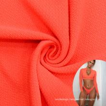 high quality thick seersucker jacquard polyamide elastane textured swimwear fabric