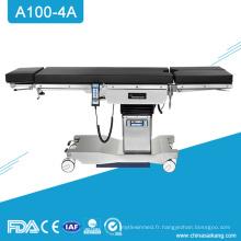 Table d'opération de chirurgie compatible d'A100-4A Ent avec le C-bras compatible