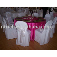 Polyester chair cover, Banquet/hotel chair cover, organza sash