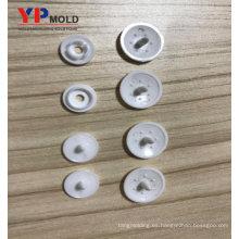 Botón plástico de las broches de presión de la ropa respetuosa del medio ambiente del botón de la fábrica / moldeo por inyección plástico