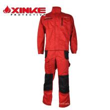 Roupa reflexiva do fogo do fran dos homens EN11612 vermelhos da cor - resistente para o trabalhador da segurança
