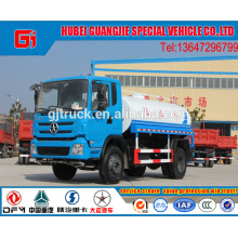 4X2 unidad de 15CBM Dayun tanque de agua camión / vagón de agua / carro de agua / camión cisterna de agua / agua camión de pulverización / bebida camión de transporte de agua