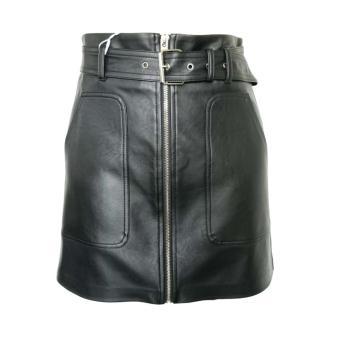 High quality skinny sexy ladies pu  skirts