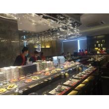 Correa transportadora de sushi giratoria segura