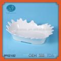 White ceramic fruit plate,fruit bowl decoration