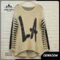 Women Oversized La Letters Sweater