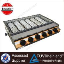 Parrilla del gas del equipo de la cocina de la parrilla de la barbacoa resistente de la venta caliente con 6 quemadores grandes Parrilla de gas