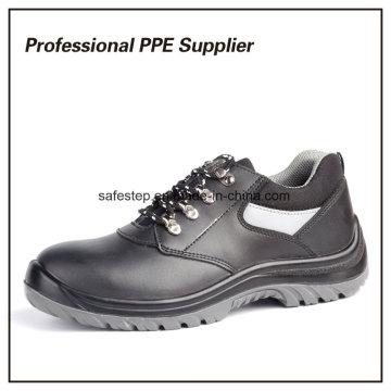Chaussures de sécurité en cuir véritable d'injection de PU de double densité