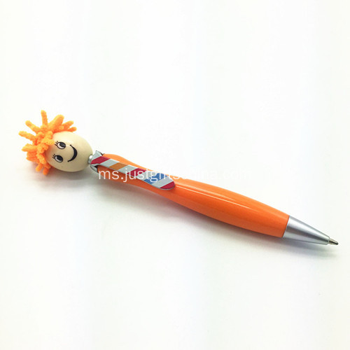Promosi Doll Ball Bentuk Pen W / Screen Cleaner