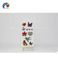 Etiqueta provisória personalizada da tatuagem da flor de borboleta 3D realística