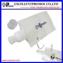Personalisierte 16oz Plastic Flexible zusammenklappbare faltbare Wasserflasche mit Karabiner (EP-B7154)